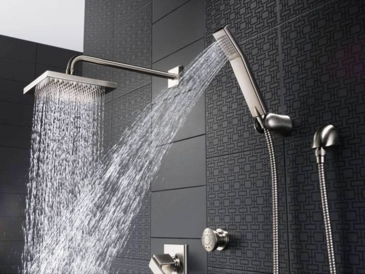 Selection Of Bathroom Light Fixtures: Custom Shower- Learn All About Bathroom Fixtures And Style