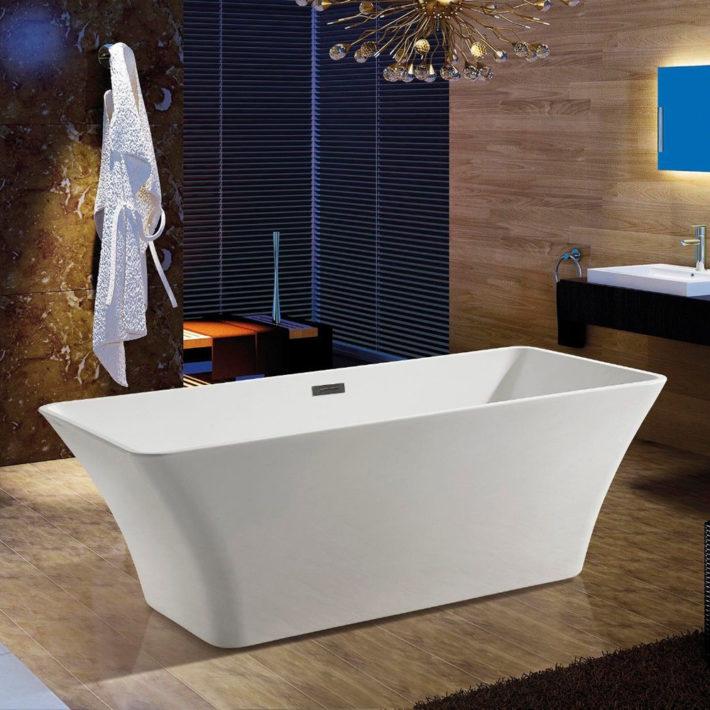 Details Of Junoshower Acrylic Bathtub & Floor Tub Filler